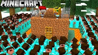 OP NOOB BASE VS. NOOB ARMEE IN MINECRAFT!