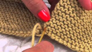 Mattress Stitch in Garter