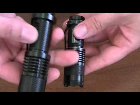 UltraFire 1600 lumen CREE XM-L T6 LED Zoomable Flashlight