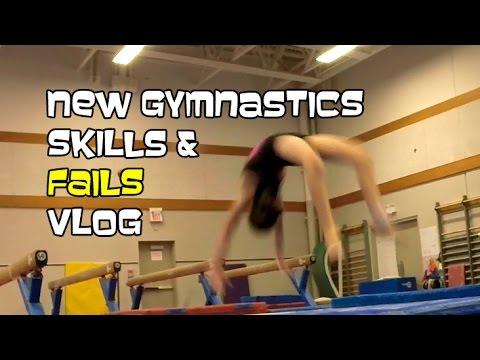 New Gymnastics Skills & Fails | Bethany G Vlog 2016-04-16