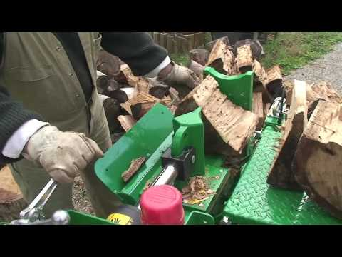 Red Roo: HLS Logsplitter with Lifting Table splitting Australian Hardwood - MUST WATCH!