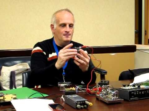 CW (continuous wave ) morse code demo at Kings County Radio Club.