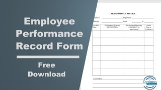 Employee Performance Record Form Free Download