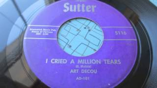 ''I cried a million tears''  Art Decou  Sutter 116 Eddie Cochran 1959