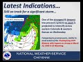 NWS Cheyenne, WY - Winter Storm and Blizzard Briefing Video