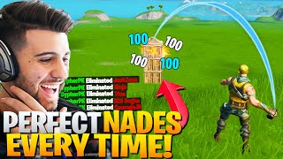 The SECRET Pros Are Using To Throw PERFECT NADES! (Free Elims!) - Fortnite Battle Royale Chapter 2