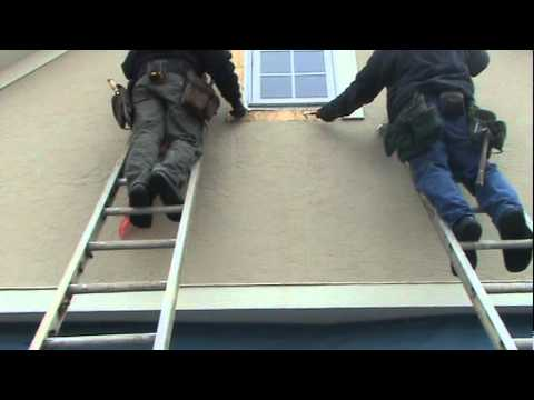 Removing Failing And Cracked Stucco Replacing With James