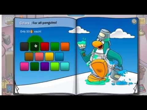 codigos para desbloquear ropa en club penguin 2012