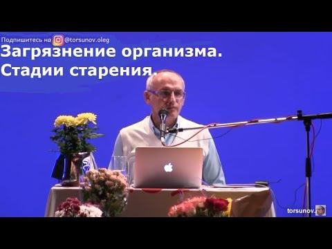 Торсунов О.Г.  Загрязнение организма.  Стадии старения.