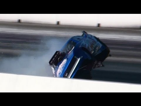 GARY PHILLIPS CRASH CAMARO TOP DOORSLAMMER 27.4.2013