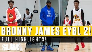 Bronny James & Strive For Greatness are LOADED! LeBron James pulls up to EYBL Session 2 👑