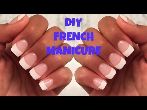 DIY FAKE NAILS AT HOME NO ACRYLIC   French Nails $8 LONG LASTING!