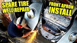 VW Beetle Front Apron Replacement - ROTTEN OLD 1956 VW BEETLE - 117