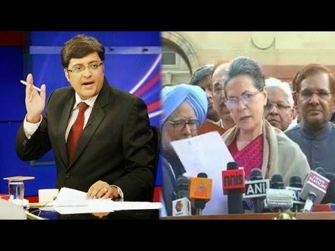The Newshour Debate: Sonia Gandhi leads Land Bill March (17th March 2015)