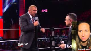 WWE Raw 3/24/14 The Reality Era sit down with Triple H