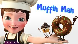 🍩 The Muffin Man Song 🍭 Nursery Rhyme Video | Sing and Read Along Children Songs nursery rhymes