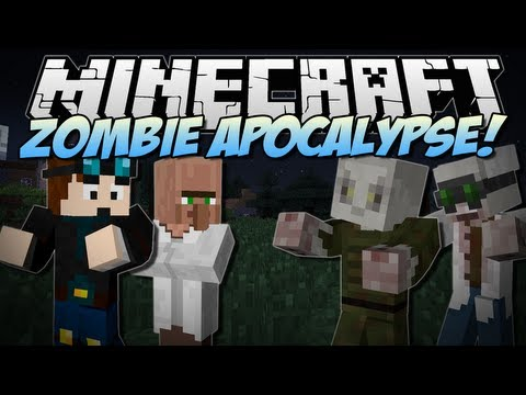 Minecraft ZOMBIE APOCALYPSE Will You Survive Mod Showcase 1.6.4