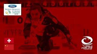 Switzerland v China - Round-robin - Ford World Women's Curling Championships 2018