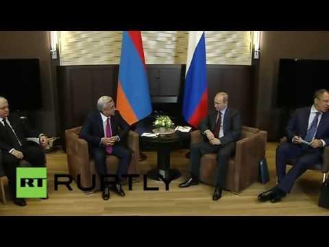 Russia: President Putin and Armenian President meet for bilateral talks