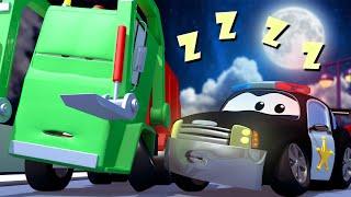 đội xe tuần tra - Gary XE TẢI CHỞ RÁC bị MỘNG DU! - Thành phố xe 🚓 🚒 những bộ phim hoạt hình về