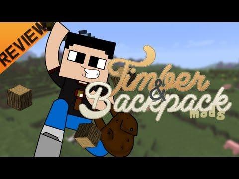 Minecraft para PC: Timber y Backpacks Mod para 1.4.5. como Instalarlo y Review!! (Forge)