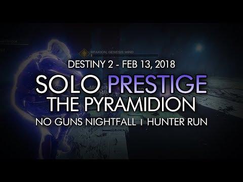 Destiny 2 - Solo Prestige Nightfall: The Pyramidion (Hunter, Abilities Only - Week 24)