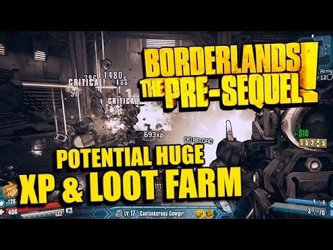 Borderlands Pre-Sequel! Potential Huge XP & Loot Farm - Let's Build a Robot Army Turrets