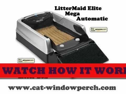 LitterMaid Mega Elite Automatic Self-Cleaning Litter Box - YouTube