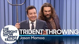 Trident Throwing with Jason Momoa