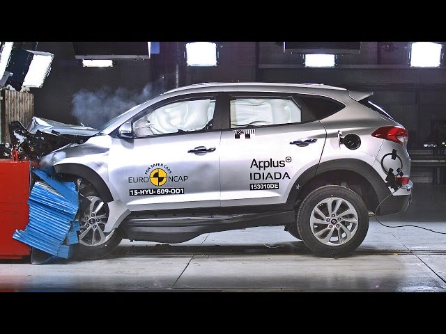 2016 Hyundai Tucson Crash Tests - YouTube