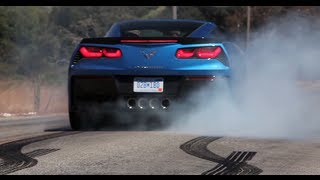 C7 Corvette Stingray - Massive Burnout Compilation
