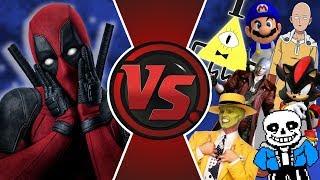 DEADPOOL vs THE WORLD! (Deadpool vs Bill Cipher, Sans, Saitama, Shadow, The Mask, SMG4 & More) Anime