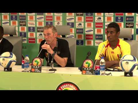 Guinée - Conférence de presse (28/01) - Orange Africa Cup of Nations, EQUATORIAL GUINEA 2015