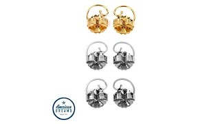 Levears 1 Pair GoldPlated and 2 Pair Stainless Steel Ear...