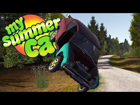 RACING IN THE RALLY COMPETITION, Warning: Lots of Crashing - My Summer Car Gameplay Highlights Ep 21