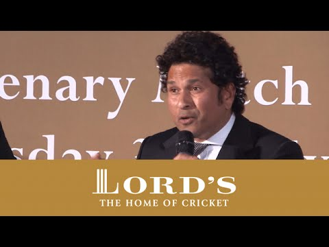 Sachin Tendulkar on the Life Lessons of Sport | MCC vs Rest of the World Dinner