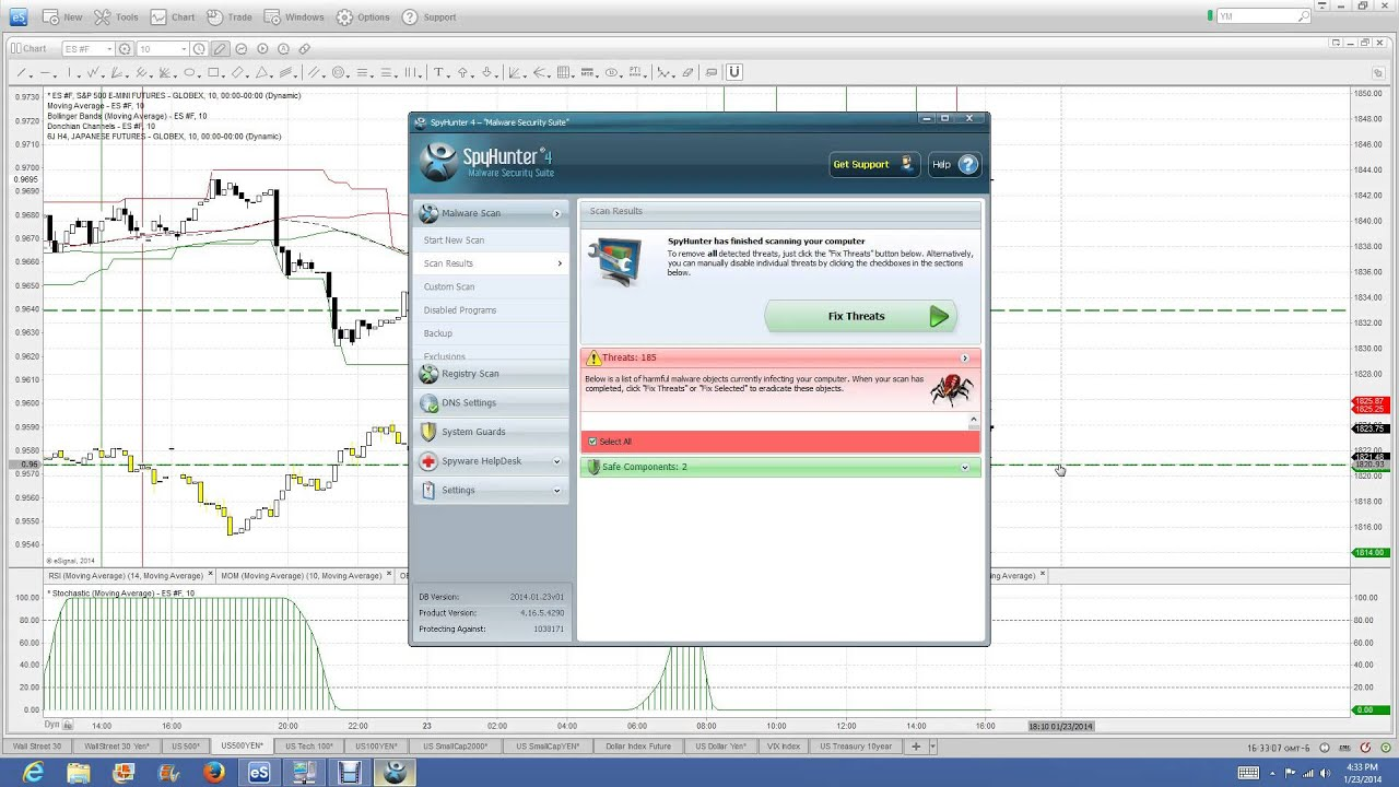 Trading signals for nadex
