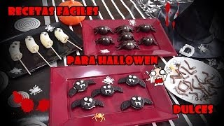 RECETAS FACILES PARA HALLOWEEN DULCES / EASY RECIPES FOR HALLOWEEN  SWEET