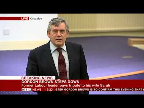 Gordon Brown steps down from parliament