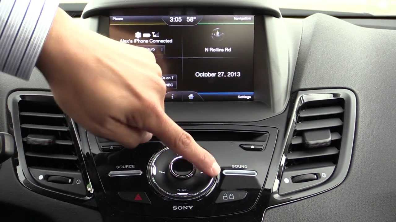 Watch on sony touch screen radio