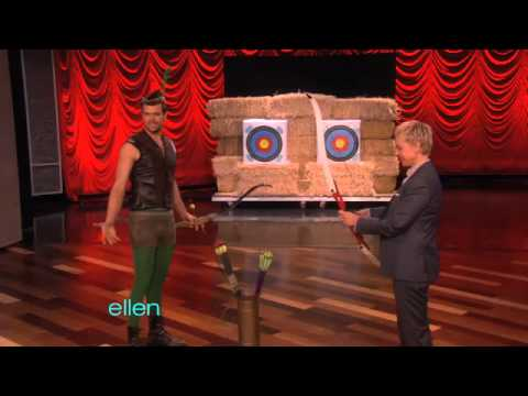 Josh Duhamel Gives an Archery Lesson