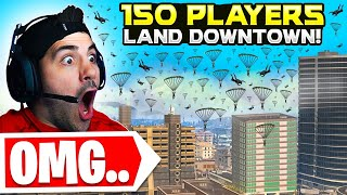 We Told 150 Stream Snipers To Land Downtown.. 😯 (Modern Warfare Warzone)