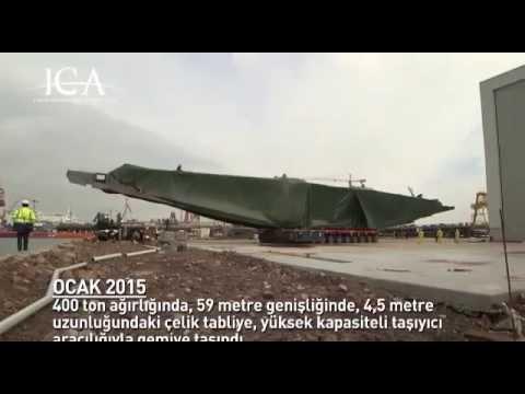 yavuz sultan selim köprüsü çelik tabliye taşıma.
