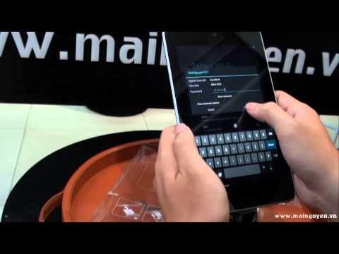 Khui hộp Google Nexus 7 phiên bản 3G - www.mainguyen.vn