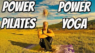 NEW CAMERA! Power Pilates Workout + Power Yoga Stretch Routine