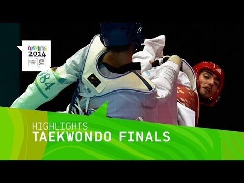 Men's 73Kg And Women's 63Kg Taekwondo Finals - Highlights | Nanjing 2014 Youth Olympic Games