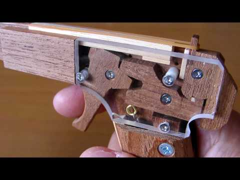 how to make a reverse draw mini crossbow