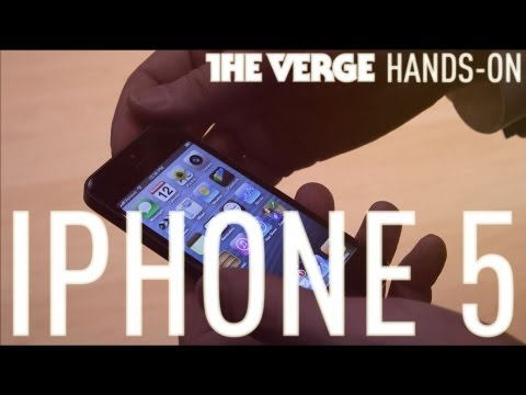 Apple iPhone 5 hands-on demo