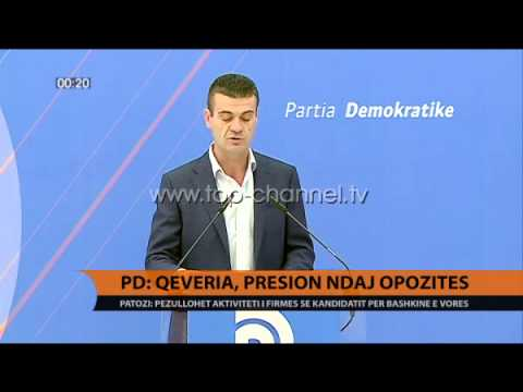 Patozi: Qeveria, presion ndaj opozitës - Top Channel Albania - News - Lajme
