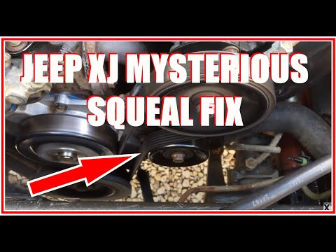 Jeep Cherokee Xj Squeaky Pulley Fix Youtube